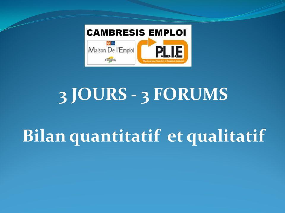 Bilan quantitatif et qualitatif