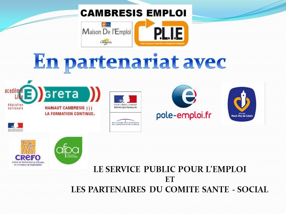 En partenariat avec LE SERVICE PUBLIC POUR L'EMPLOI