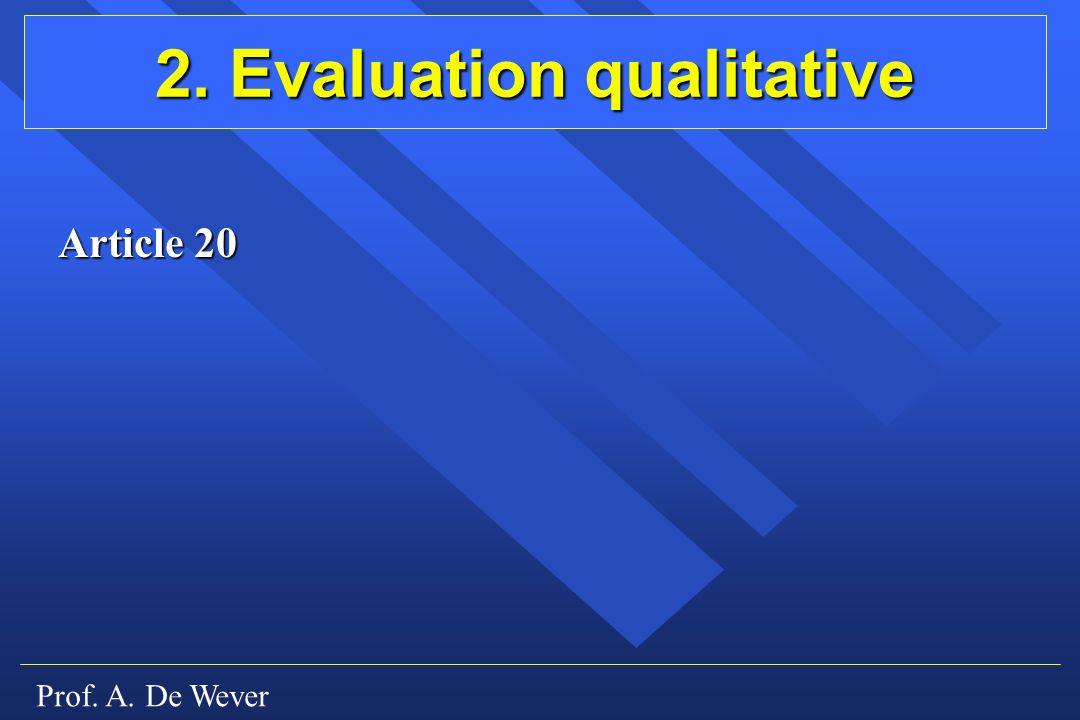 2. Evaluation qualitative