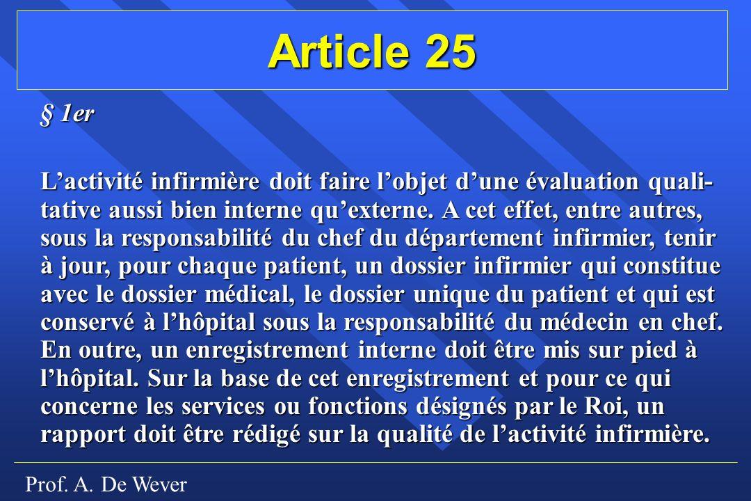 Article 25 § 1er.