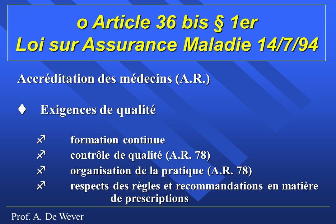 Loi sur Assurance Maladie 14/7/94