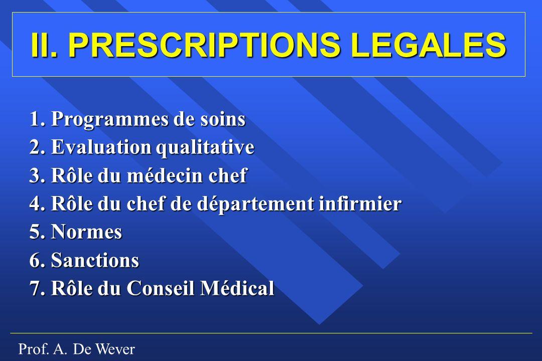 II. PRESCRIPTIONS LEGALES
