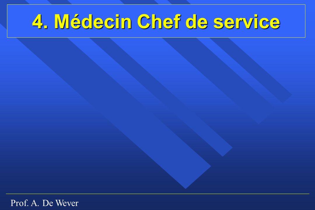 4. Médecin Chef de service