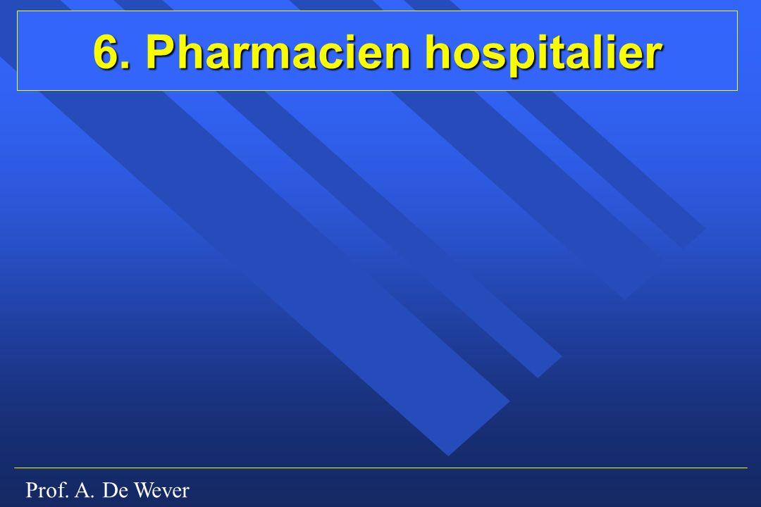 6. Pharmacien hospitalier