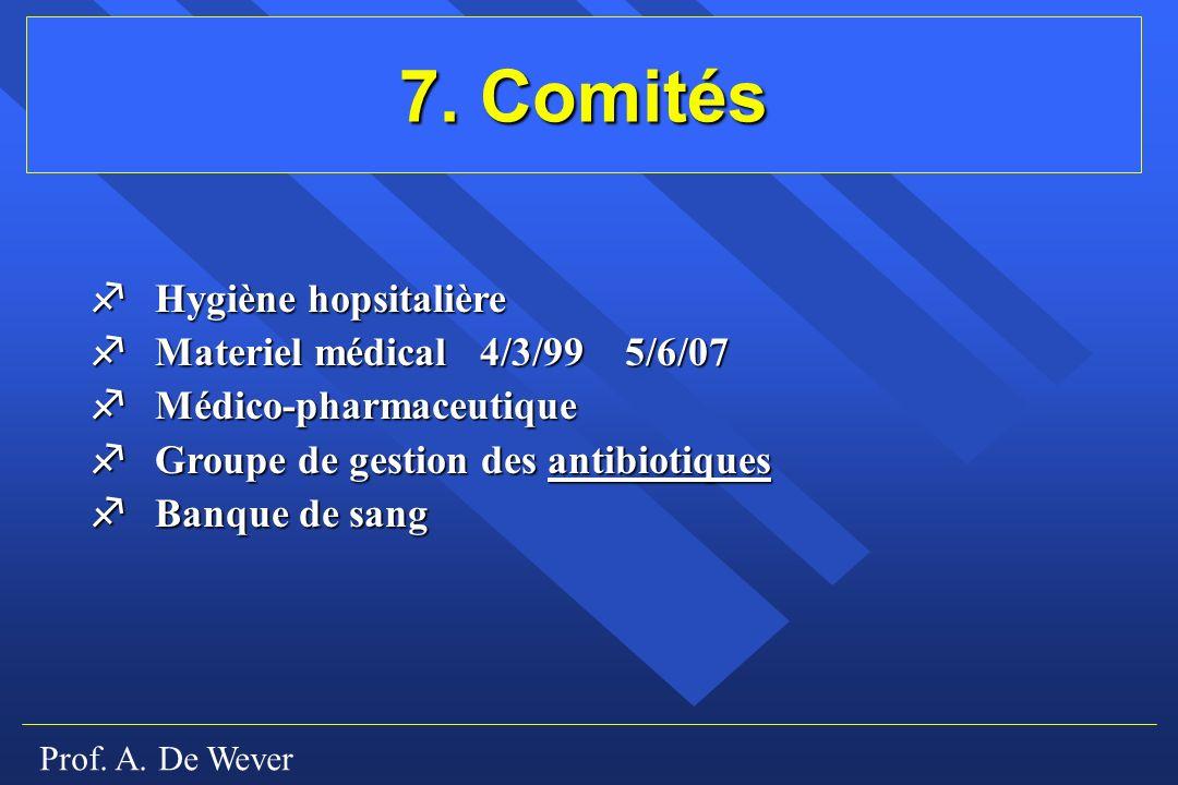 7. Comités f Hygiène hopsitalière f Materiel médical 4/3/99 5/6/07