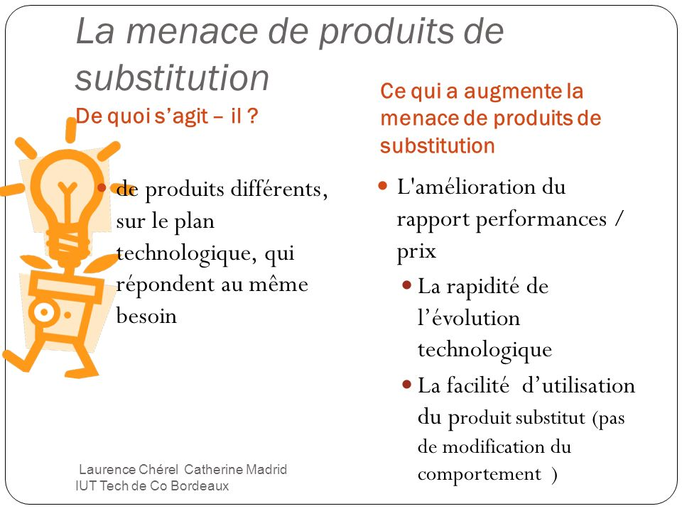 La menace de produits de substitution
