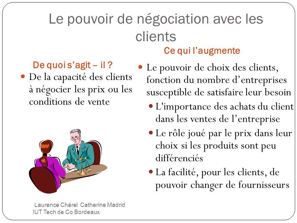 Le pouvoir de négociation avec les clients