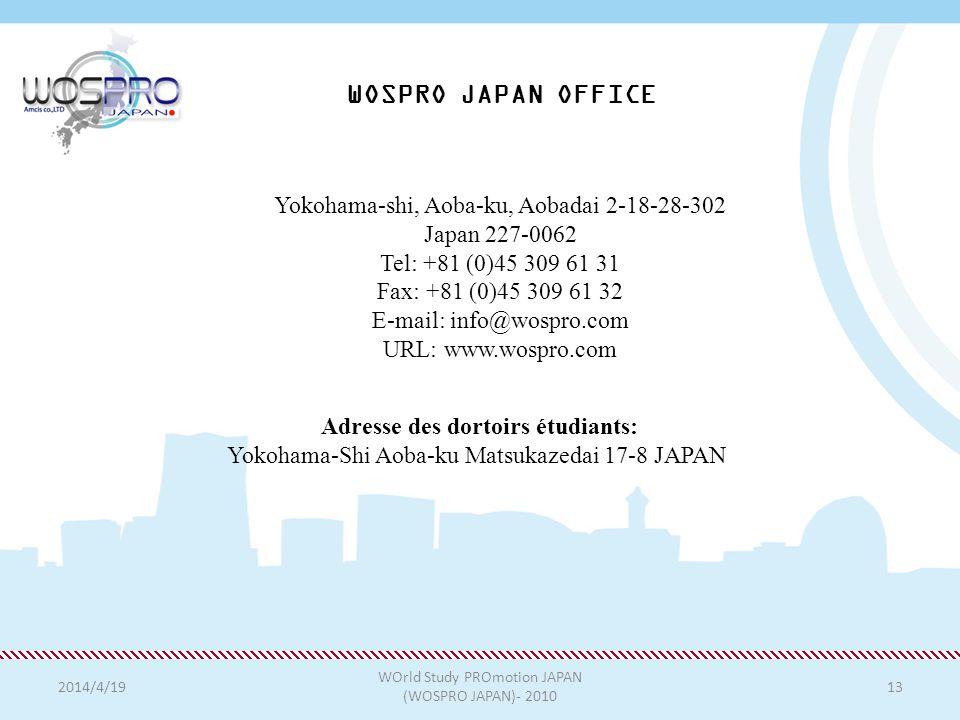WOSPRO JAPAN OFFICE Yokohama-shi, Aoba-ku, Aobadai 2-18-28-302
