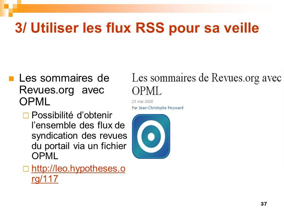 3/ Utiliser les flux RSS pour sa veille