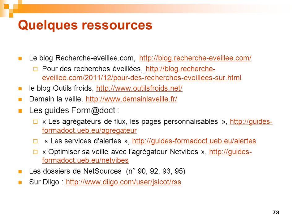 Quelques ressources Les guides Form@doct :