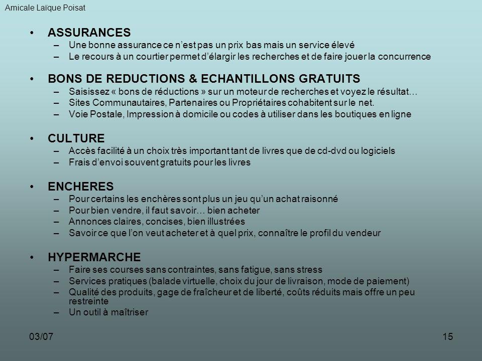 BONS DE REDUCTIONS & ECHANTILLONS GRATUITS