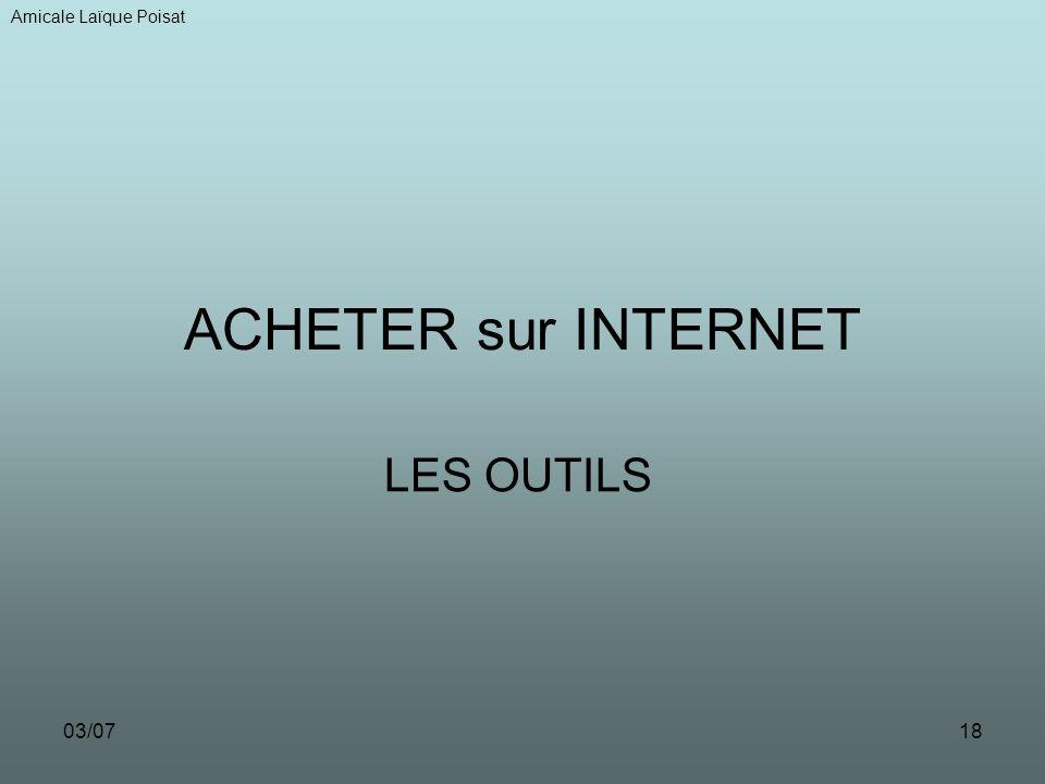 Amicale Laïque Poisat ACHETER sur INTERNET LES OUTILS 03/07