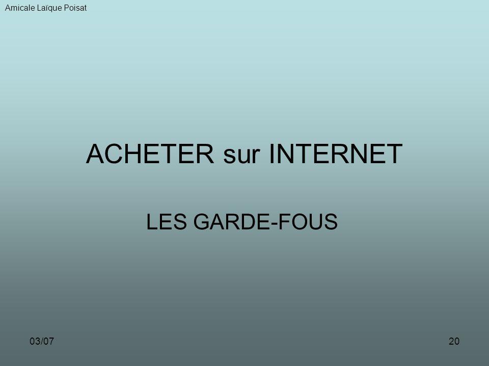 Amicale Laïque Poisat ACHETER sur INTERNET LES GARDE-FOUS 03/07