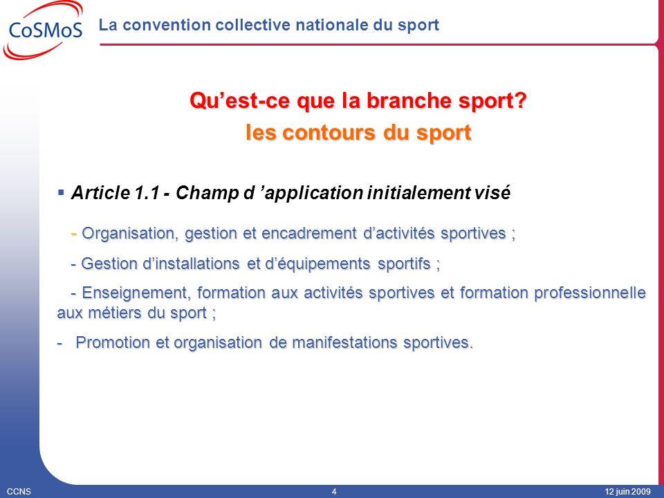 La convention collective nationale du sport
