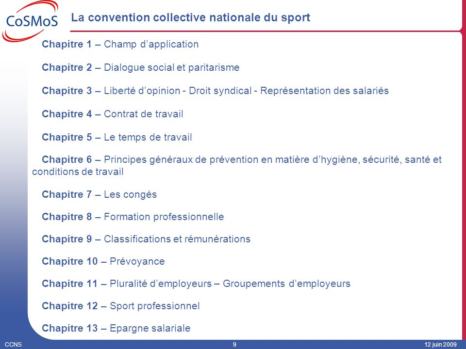 La convention collective nationale du sport