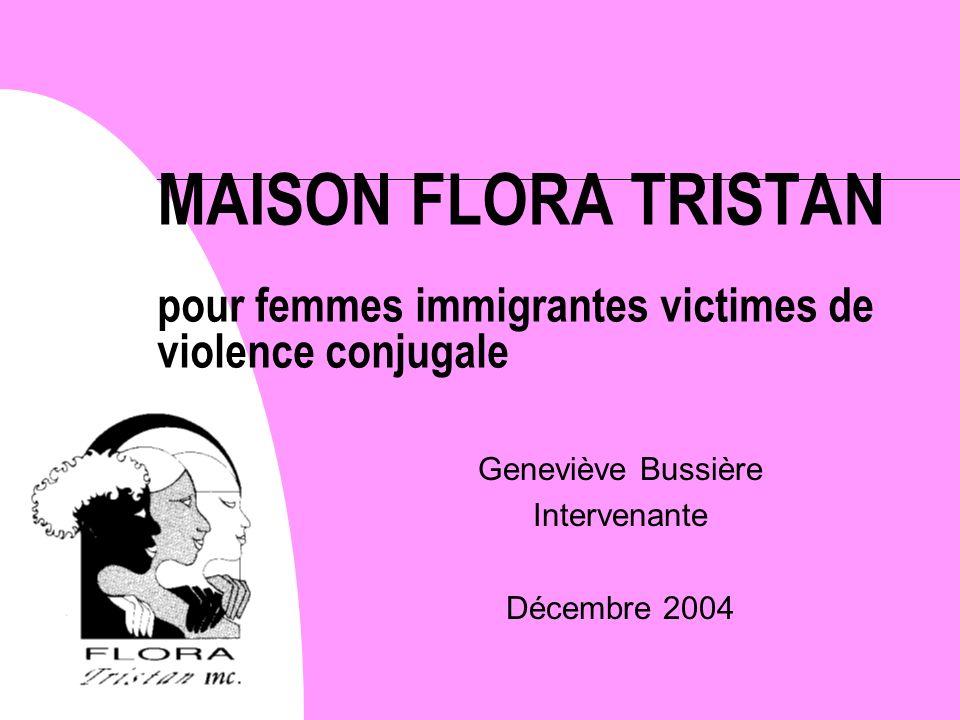 Geneviève Bussière Intervenante Décembre 2004