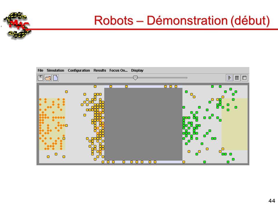 Robots – Démonstration (début)