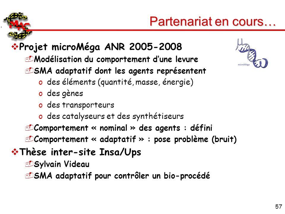 Partenariat en cours… Projet microMéga ANR 2005-2008