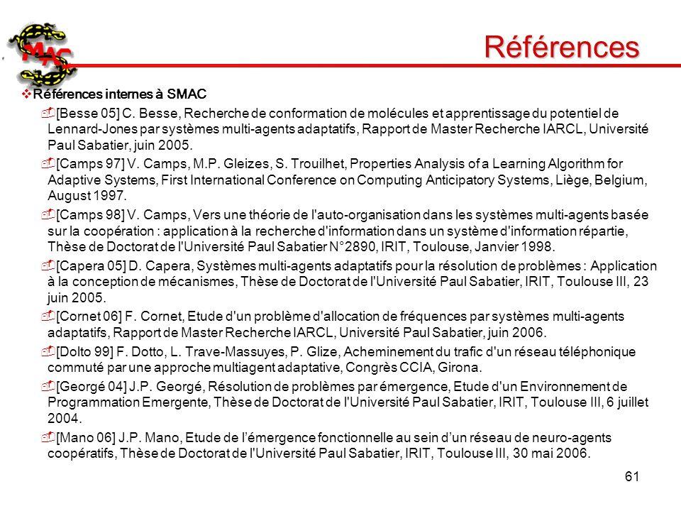 Références Références internes à SMAC