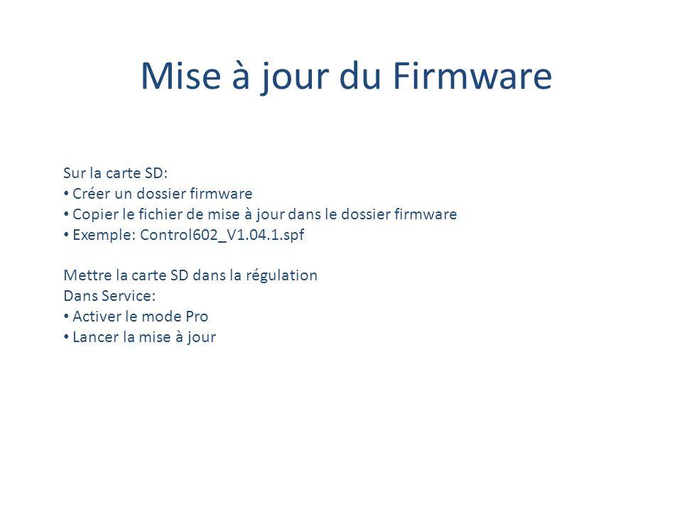 Mise à jour du Firmware Sur la carte SD: Créer un dossier firmware