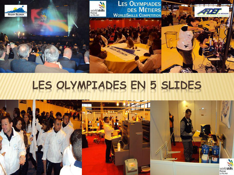 LES OLYMPIADES EN 5 SLIDES