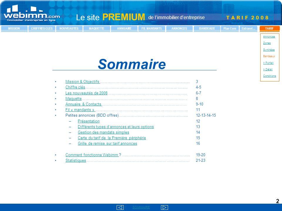 Sommaire Mission & Objectifs ……………………………………................................ 3. Chiffre clés…………………………………………………………………….. 4-5.