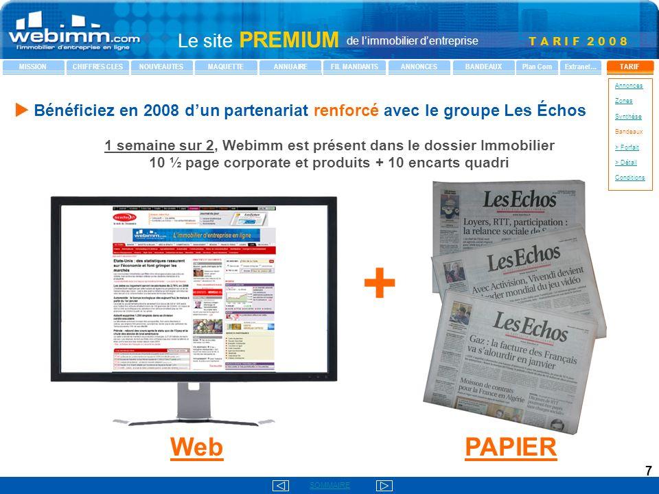 u Bénéficiez en 2008 d'un partenariat renforcé avec le groupe Les Échos