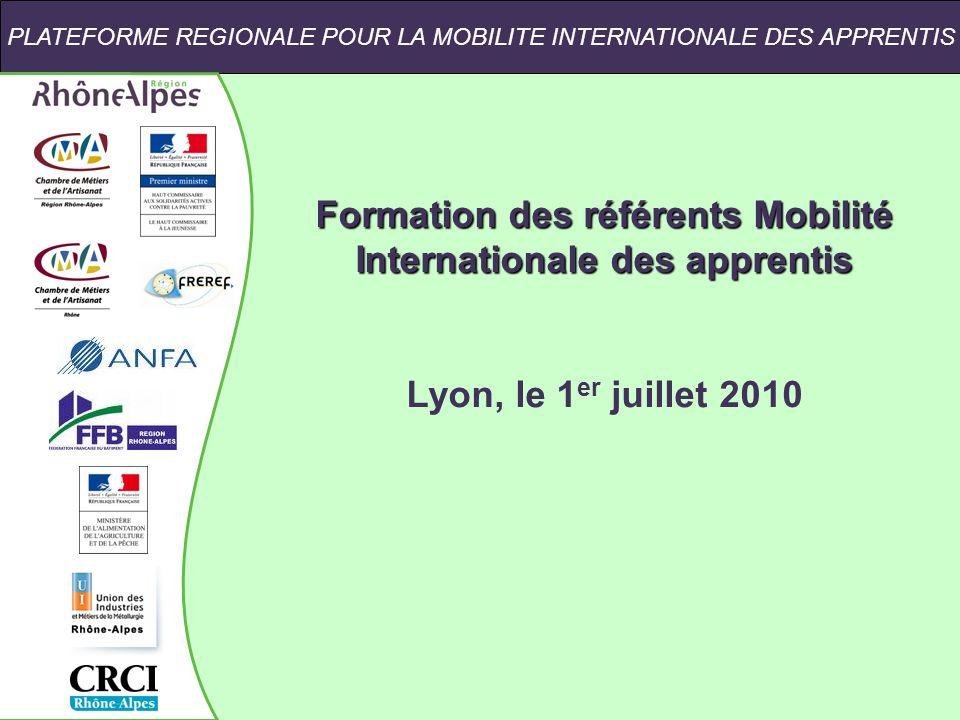 Formation des référents Mobilité Internationale des apprentis
