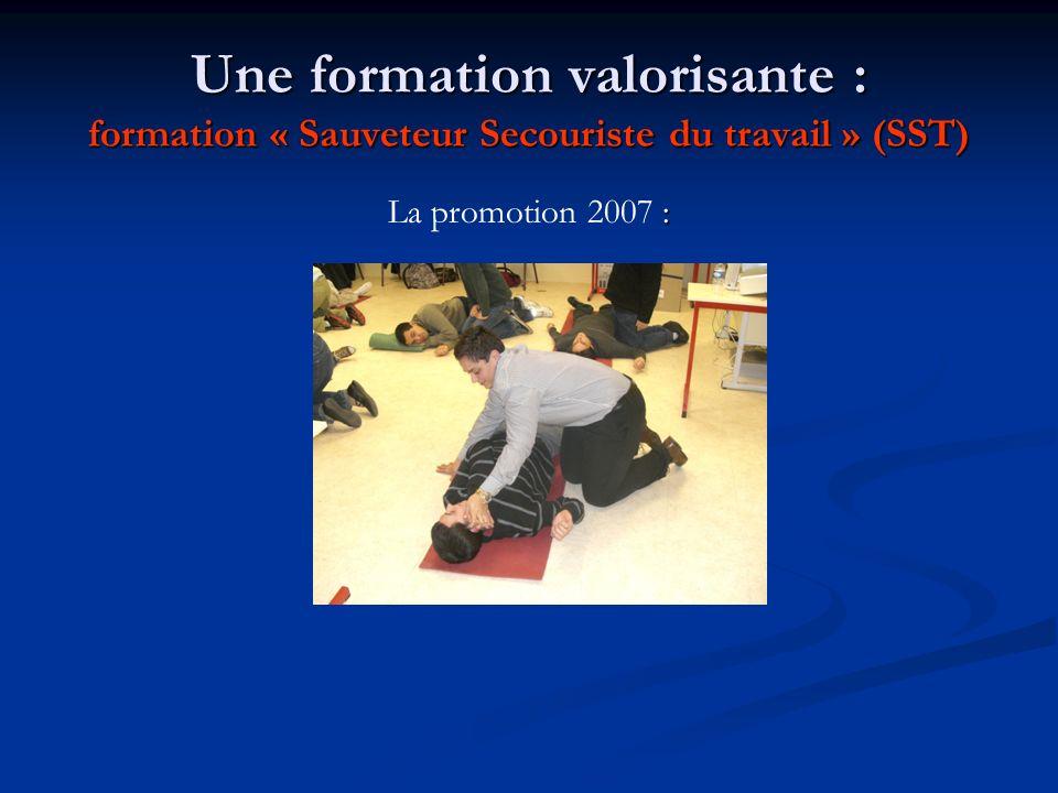 Une formation valorisante : formation « Sauveteur Secouriste du travail » (SST)