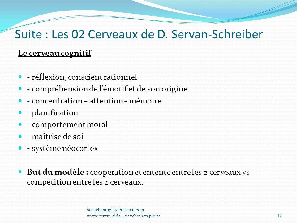 Suite : Les 02 Cerveaux de D. Servan-Schreiber