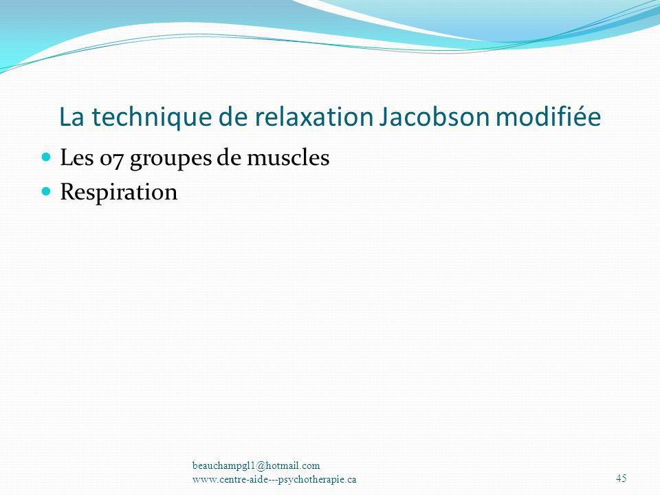 La technique de relaxation Jacobson modifiée