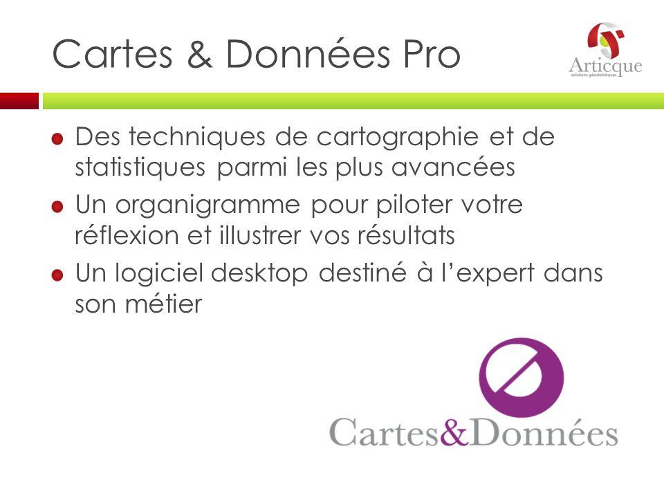 Cartes & Données Pro Des techniques de cartographie et de statistiques parmi les plus avancées.