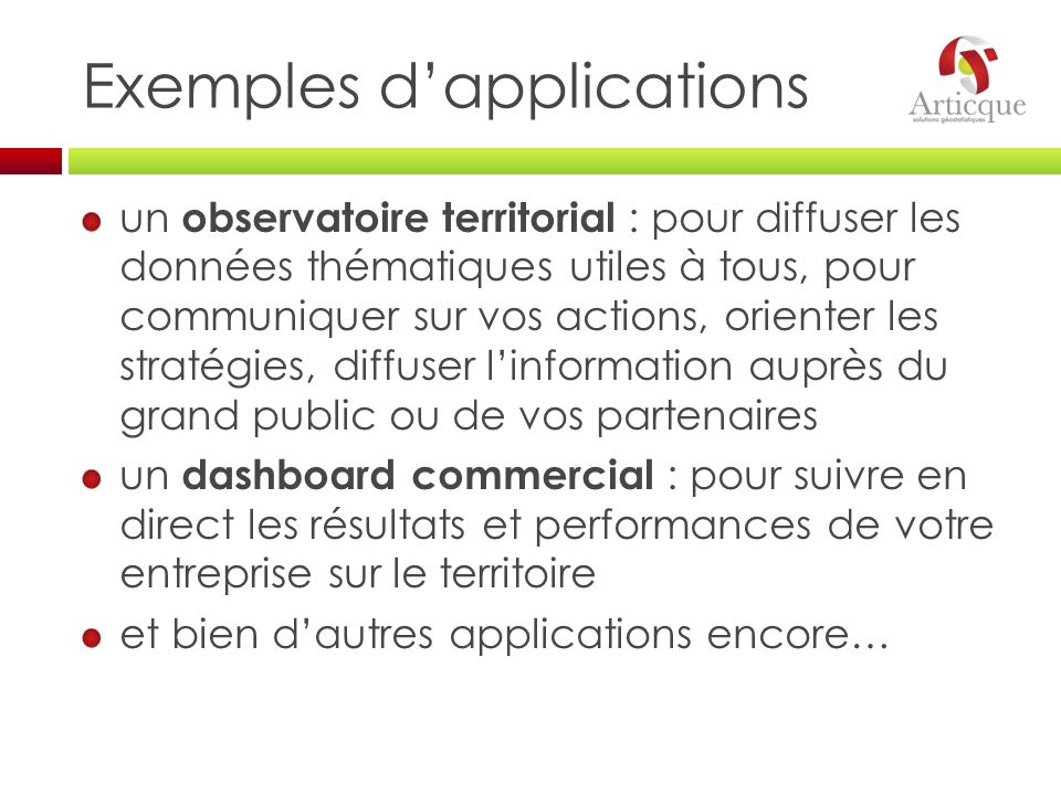 Exemples d'applications