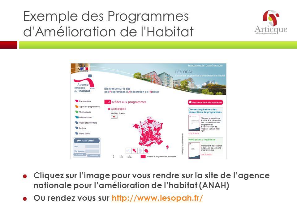 Exemple des Programmes d Amélioration de l Habitat