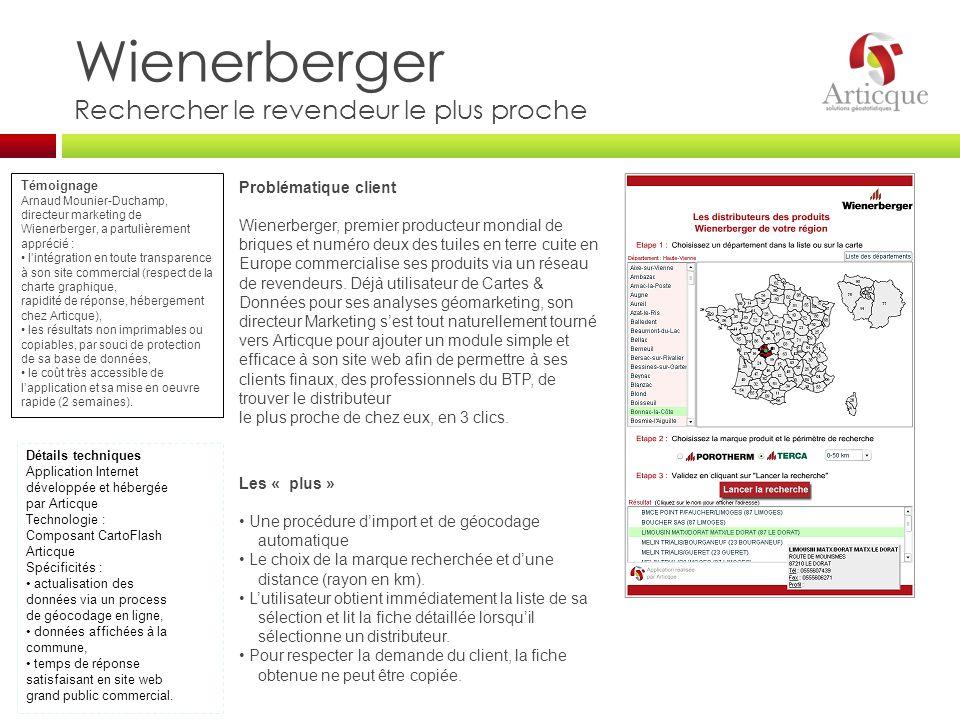 Wienerberger Rechercher le revendeur le plus proche