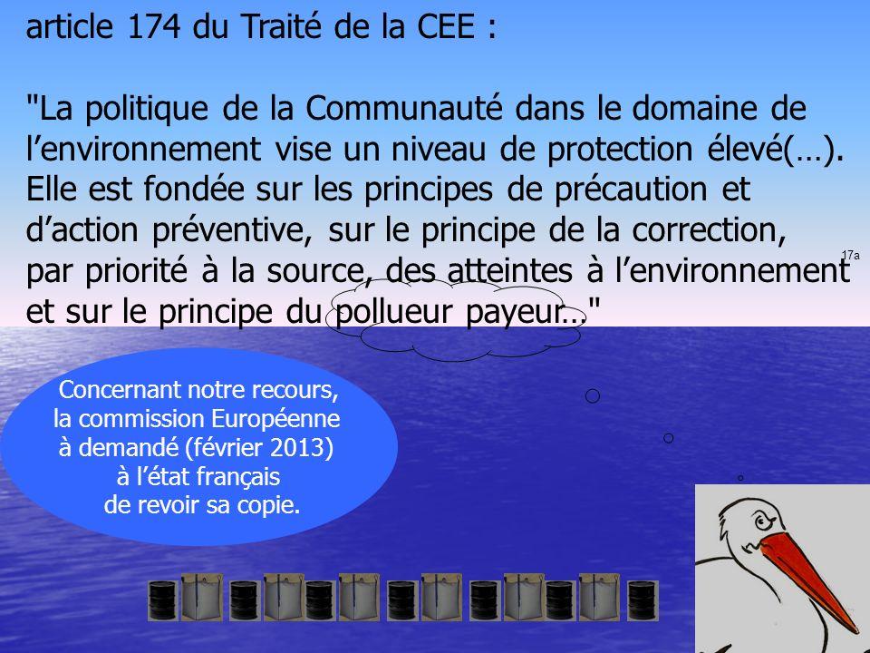 article 174 du Traité de la CEE :