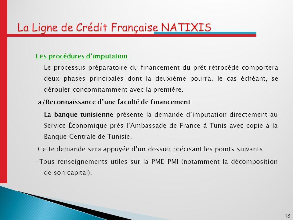 La Ligne de Crédit Française NATIXIS
