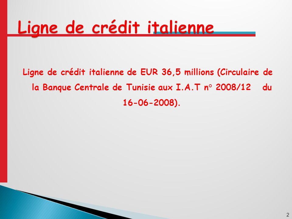 Ligne de crédit italienne