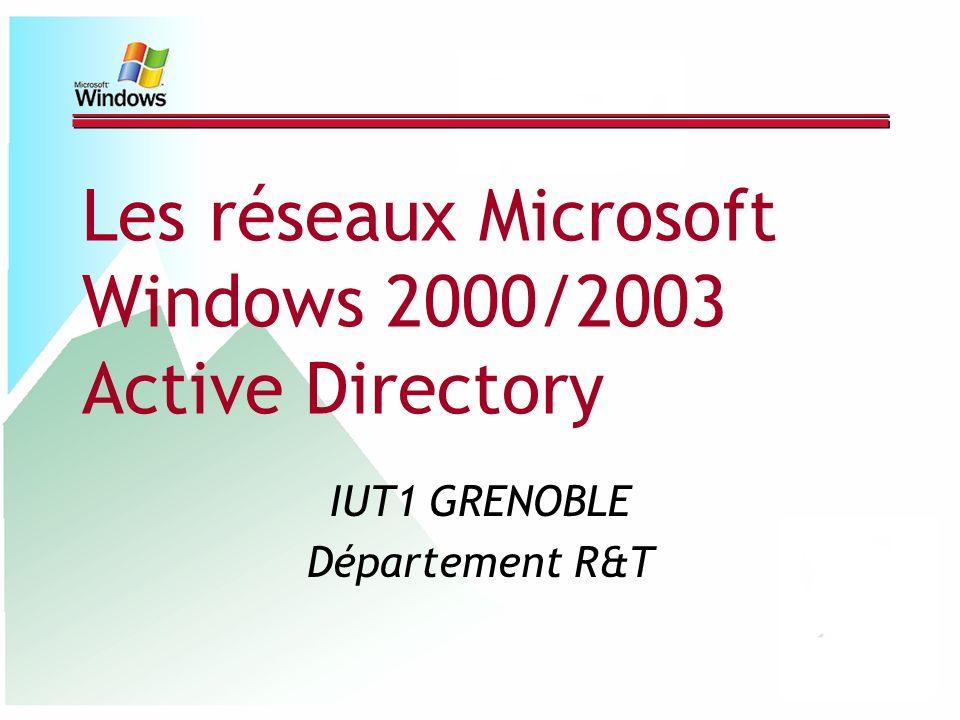 Les réseaux Microsoft Windows 2000/2003 Active Directory