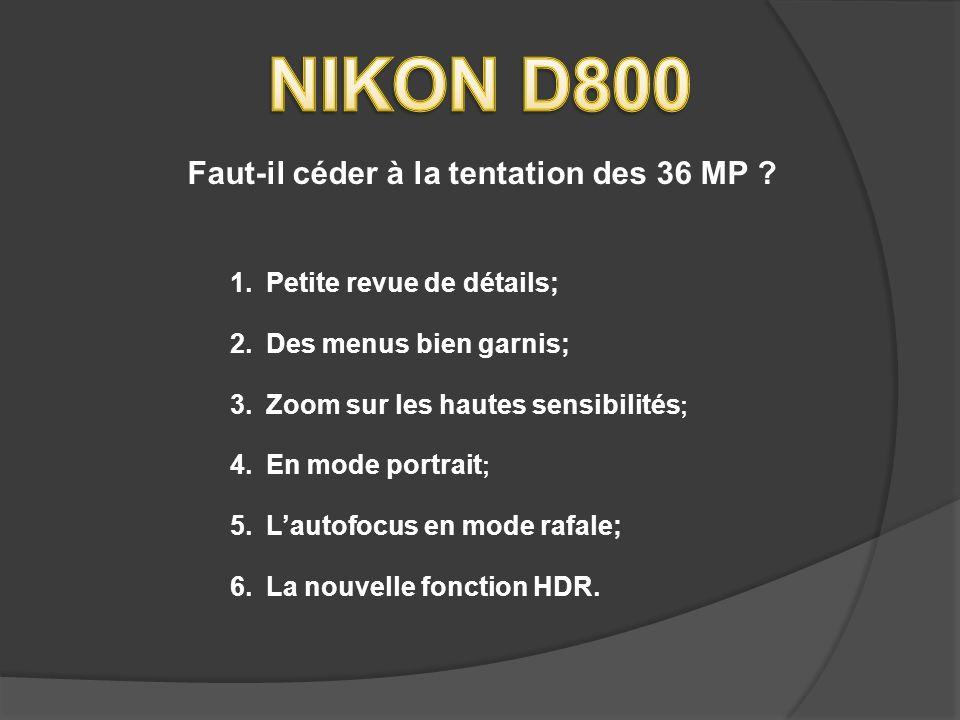 NIKON D800 Faut-il céder à la tentation des 36 MP