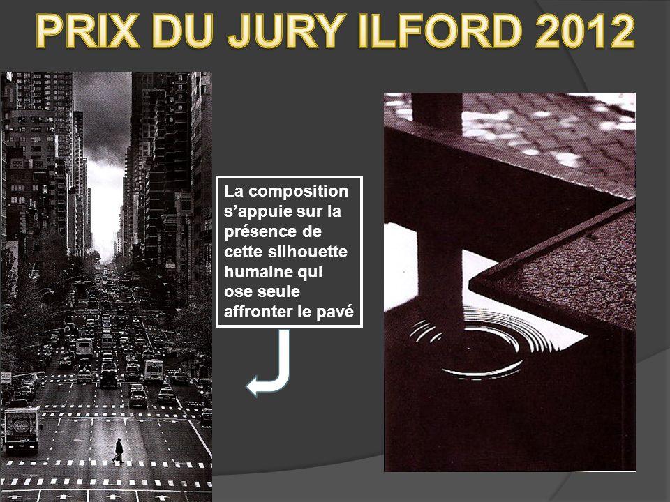 PRIX DU JURY ILFORD 2012 La composition s'appuie sur la présence de cette silhouette humaine qui ose seule affronter le pavé.