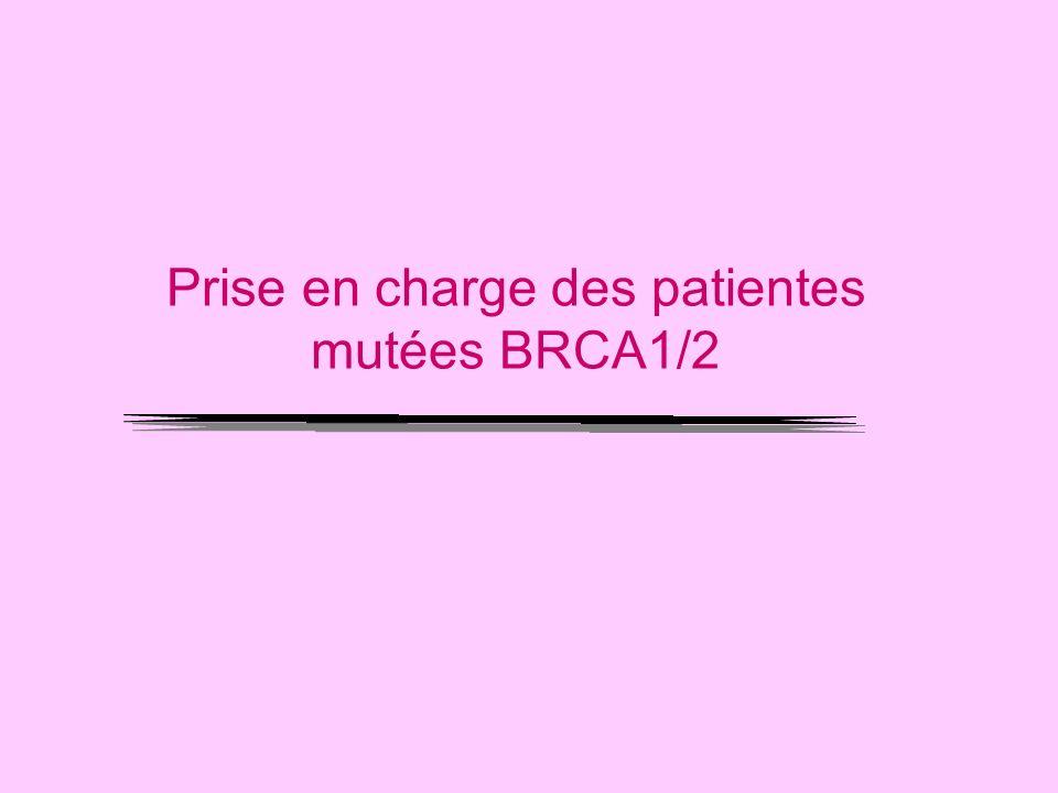 Prise en charge des patientes mutées BRCA1/2
