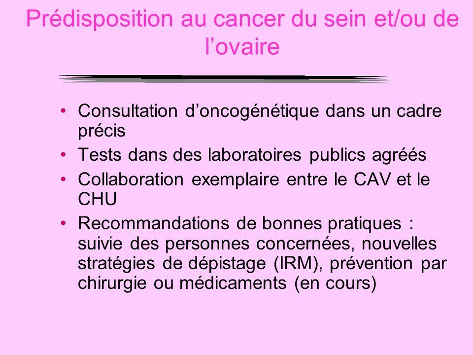 Prédisposition au cancer du sein et/ou de l'ovaire