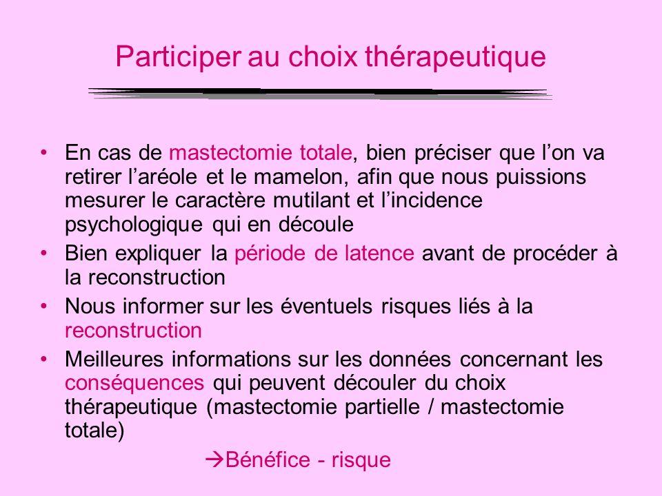 Participer au choix thérapeutique