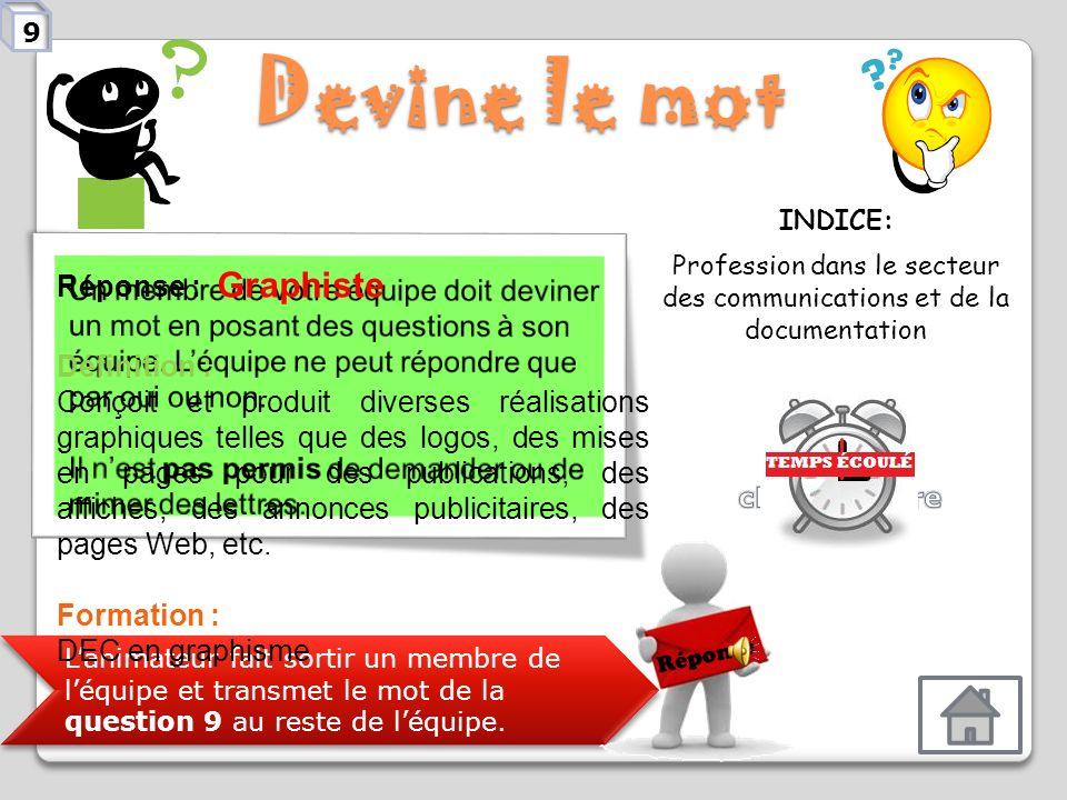 Profession dans le secteur des communications et de la documentation