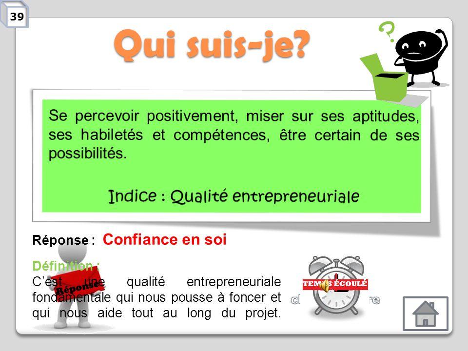 Indice : Qualité entrepreneuriale