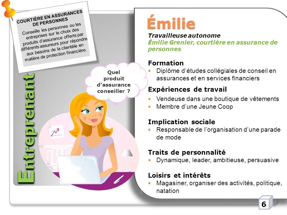 Entreprenant Émilie 6 Formation