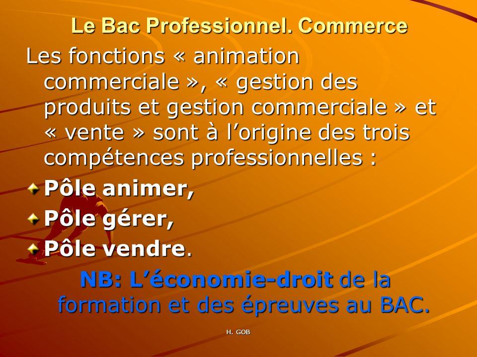 Le Bac Professionnel. Commerce