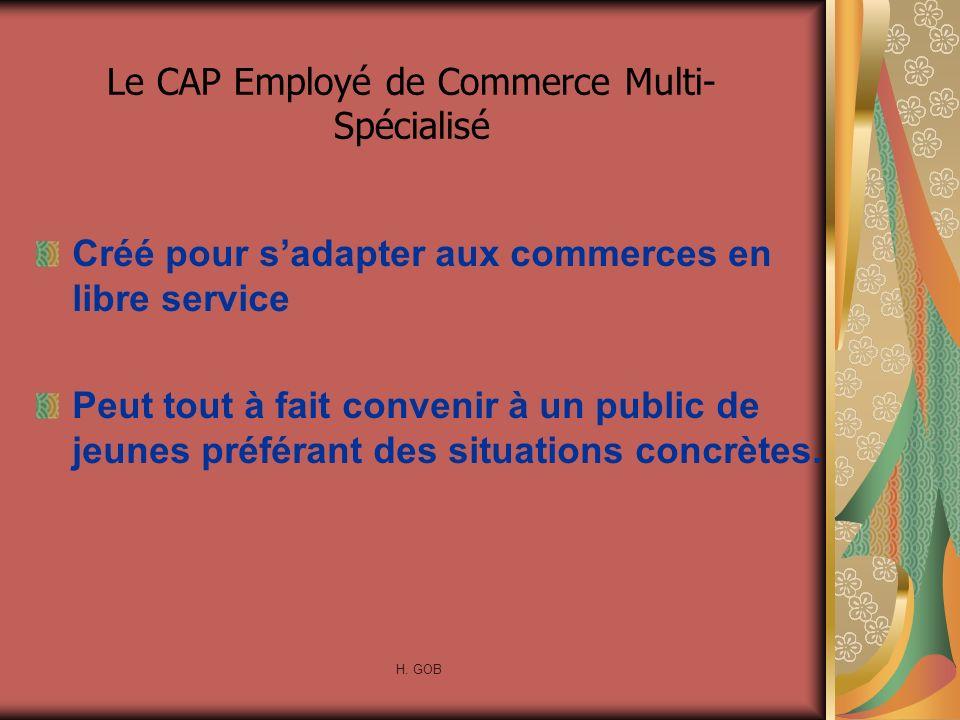 Le CAP Employé de Commerce Multi-Spécialisé