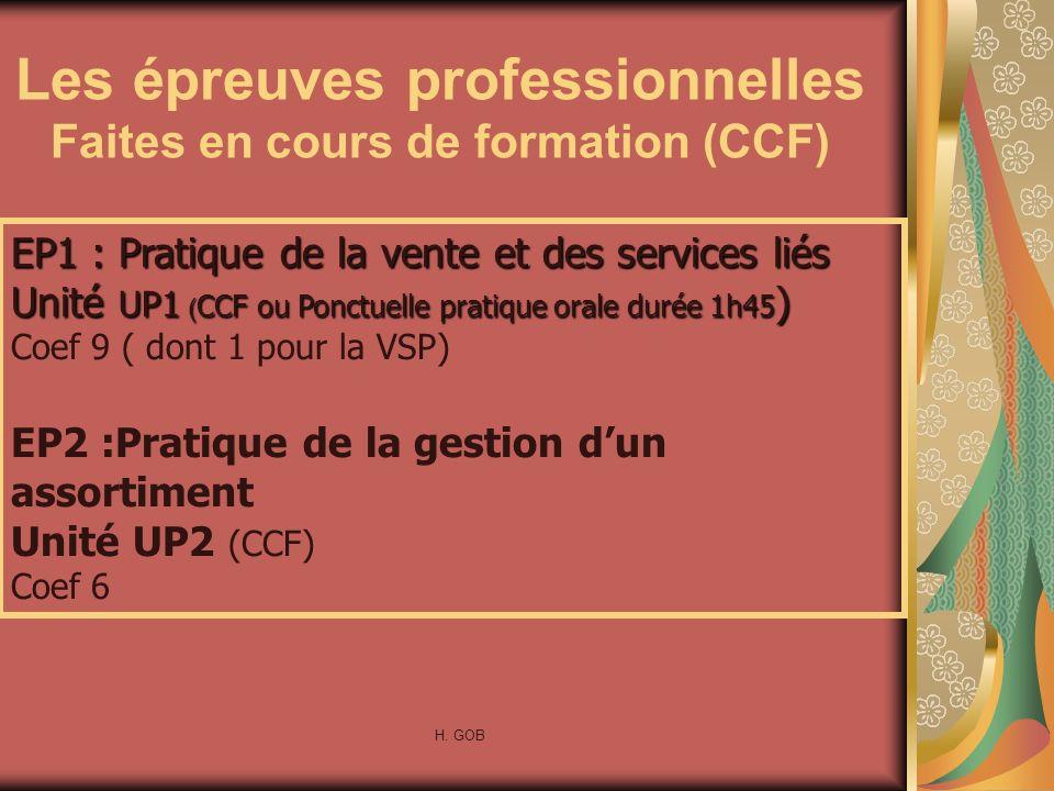 Les épreuves professionnelles Faites en cours de formation (CCF)